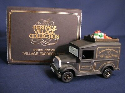 "Dept 56 #99511 Village Express Van - ""Special Edition"" (Black & Gold Box) MIB"