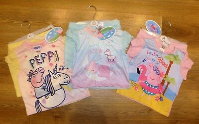 Peppa Pig T-Shirt & Shorts Set Sizes 12-18 Months to 3-4 Years - New With Tags