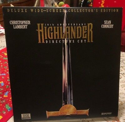 Highlander Laserdisc Deluxe Mint Widescreen Collector's 10Th Anniversary
