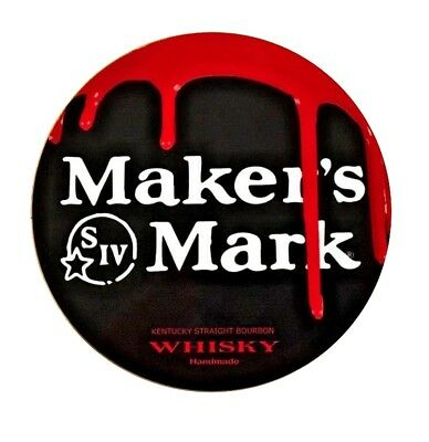 Makers Mark Whisky Sign Dripping Wax Graphics - 7 inch Diameter