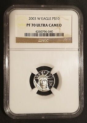 2003-W 1/10 oz Platinum American Eagle / Statue of Liberty NGC PF 70 Ultra Cameo