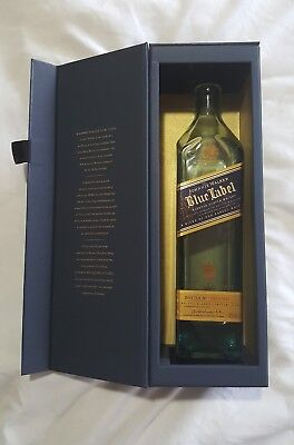 JOHNNIE WALKER BLUE LABEL Scotch Whisky GIFT BOX w/ Empty BOTTLE 750ml