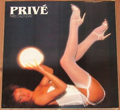 1985 Prive Lingerie Wall Calendar, Unused, Colour Library