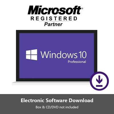 Microsoft Windows 10 Pro Professional Genuine License Key Code