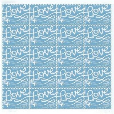 Brand new - USPS Forever Stamps 1 Sheet of 20 LOVE Skywriting Stamps