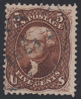 TDStamps: US Stamps Scott#75 5c Jefferson Used CV$425.00