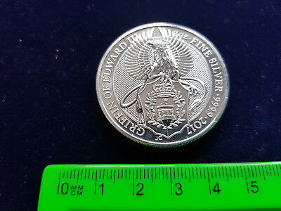 2 oz 999 / 1000 Silber Queen?s Beasts -Griffin of Edward III  2017