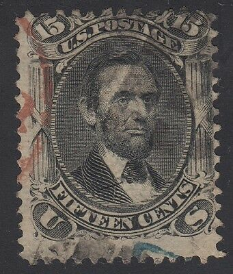 TDStamps: US Stamps Scott#91 15c Lincoln Used CV$650.00