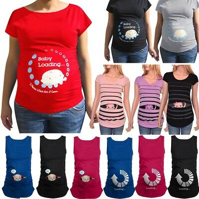 7263c5ad Women Pregnant Cute Baby Printed Plus Size Funny T-Shirt Maternity Lady Tops
