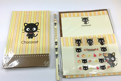 Lot of Sanrio Chococat Stationary letter set, journal, pencil 2001