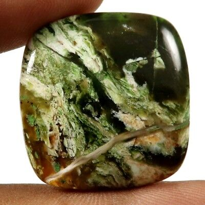 30.85 cts Natural Opalised Serpentine Gemstone Designer Cushion Loose Cabochon