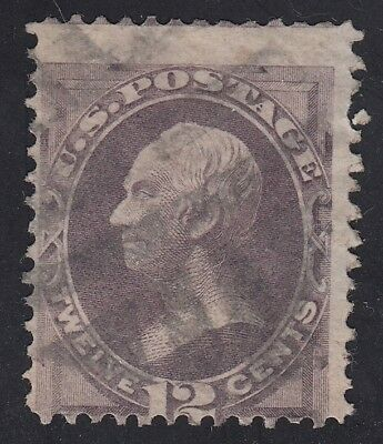 TDStamps: US Stamps Scott#151 12c Clay Used CV$220.00