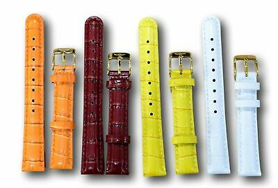013ff3479 Invicta 16 mm Watch Band Gold Buckle Leather Watch Straps Fits Women's Lupah