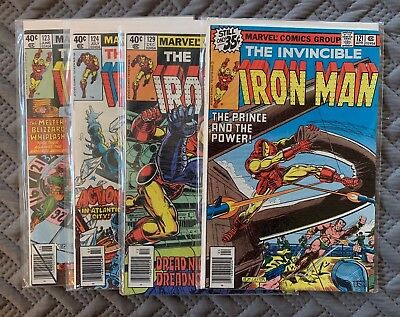 Marvel Iron Man 1970's Lot of 4 Comic Books Vol 1. Issues 121-124, 129