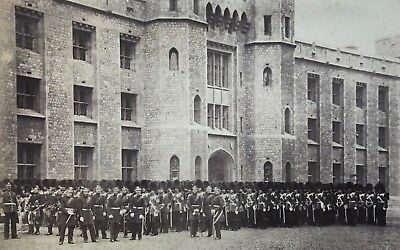 GRENADIER GUARDS: ARMED Massive Company * Large VINTAGE 1860s Albumen Photograph