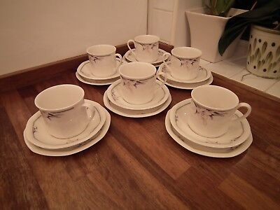 Royal Doulton Nimbus Pattern Cups, Saucers & Side Plates Qty 6
