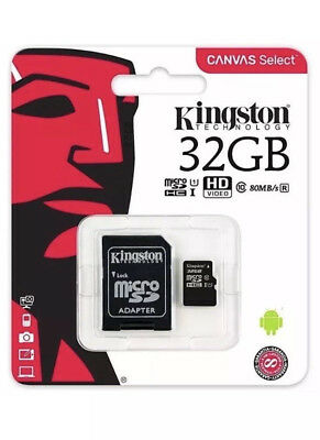 Kingston 32GB Micro SD SDHC Memory Card Class 10 80 MB/s With Adapter New