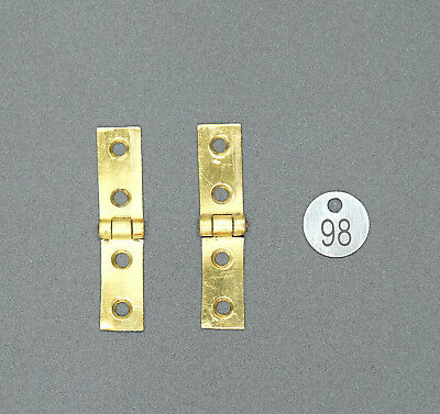 Writing Slope Box Restoration - Pair of Brass Strap Hinges