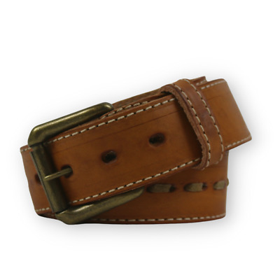 "R.G. BULLCO RGB-121 1-1/2"" Tan Full Grain Backstrap Leather Belt - Size 38"