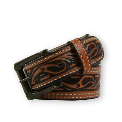 "R.G. BULLCO RGB-4453 1-3/4"" Tan Full Grain Leather Belt - Size 46"