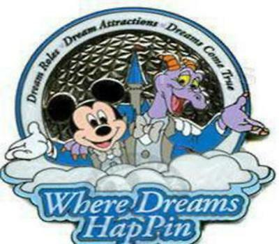Disney Pin 56786 WDW Where Dreams HapPIN Super Frame Completer LE 10 Figment