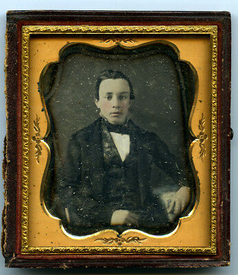 Sixth Plate Daguerreotype of a Young Man