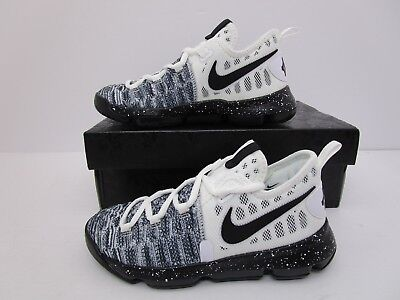 cheap for discount b7702 b0c7b Nike KD 9 IX Kevin Durant Oreo Basketball Shoes White Black Youth Size13.5