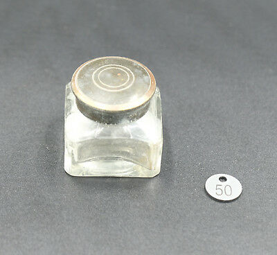 Old Writing Slope Inkwell - Original Condition - Working Screw Lid