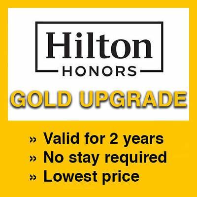 Hilton Gold Status Upgrade- Valid for 2 Years!