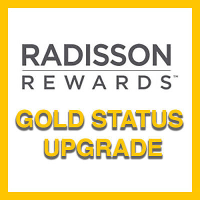 Radisson Rewards Gold Status - Valid to Feb. 2020
