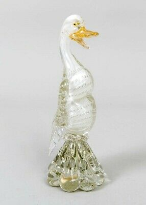 "Stickered MURANO Venetian Art Glass Duck Goose Figure Hand Blown 10.5"" Italy"