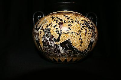 GREEK APULIAN That Dates to 500 BC Black Figure Krater Musicians and Wealthy Man