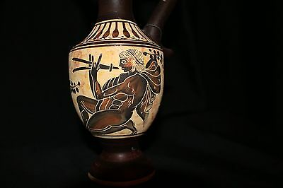 GREEK APULIAN That Dates to.500 BC Red Figure Krater Man with Flute No. 356