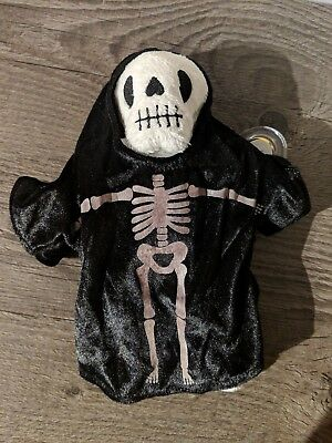Ty Beanie Baby - Creepers Halloween Skeleton - with Tag Protector
