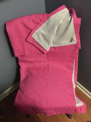 "NWOT Pottery Barn Kids Bright Pink Pole Pocket Blackout Curtain Panel 44""x63"""