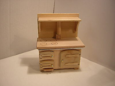 1/12th Dollshouse Miniature Plain Wood Range/ Aga /Rayburn Style cooker