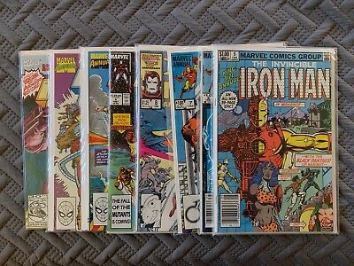 Marvel Iron Man Vintage Annuals Lot of 8 Comic Books Vol 1. Issues 5-11, 13