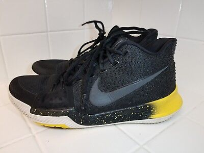 0d51816eb2f3c1 Nike Kyrie Irving 3 Black   Yellow 852395-901 Men s Size 9 Basketball Shoes