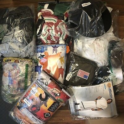 LOT of 10 Men's & Unisex COSTUMES Rubie's & More! Assorted Mixed Conditions