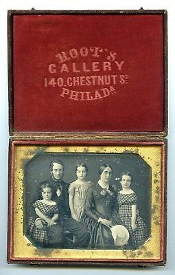 Half Plate Daguerreotype of Family by Root's Gallery