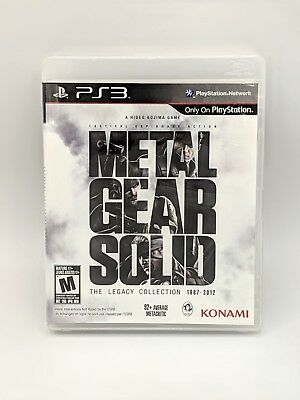 Metal Gear Solid: The Legacy Collection 1987-2012 PS3 Sony PlayStation 3 2 Discs