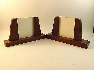 Two Vintage Dark Oak ~ Art Deco Picture Frames ~ With Glass