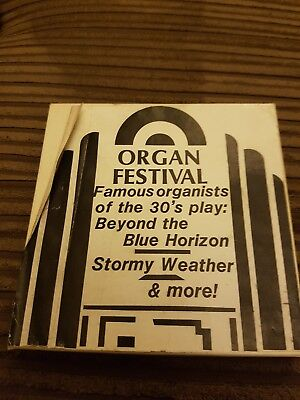 ORGAN FESTIVAL - FAMOUS ORGANISTS OF THE 30's PLAY - SUPER 8 FILM