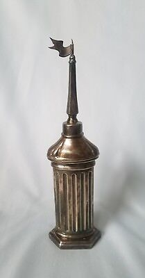 "Antique JUDAICA Sterling Silver of 7.5"" Besamim Spice Box Tower by Hadad"
