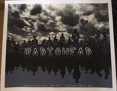RARE EMEK RADIOHEAD Roseland Sept 28/29, 2011 Glow in the Dark Poster