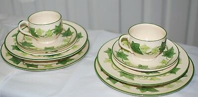 Franciscan Ware Ivy Pat. 2- 5 Pc. Place Settings Plates Bread&but Cup/sauc Soup