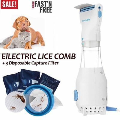LiceTex Automatic Head Lice Eliminator Electric Cleaner Treatment Pet Dog Brush