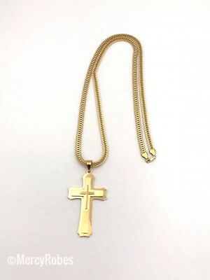 New Religious Pectoral Cross With Chain (SUBT007 G), Christian Cross