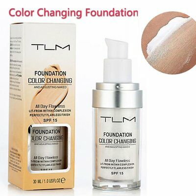 30ml TLM Color Changing Foundation Makeup Base Nude Cover Concealer F5