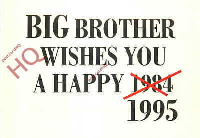 Picture Postcard- Big Brother, 1984 / 1995 [Art Unlimited]